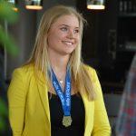 Nikki Prein met medaille