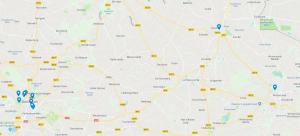 Overzicht locaties